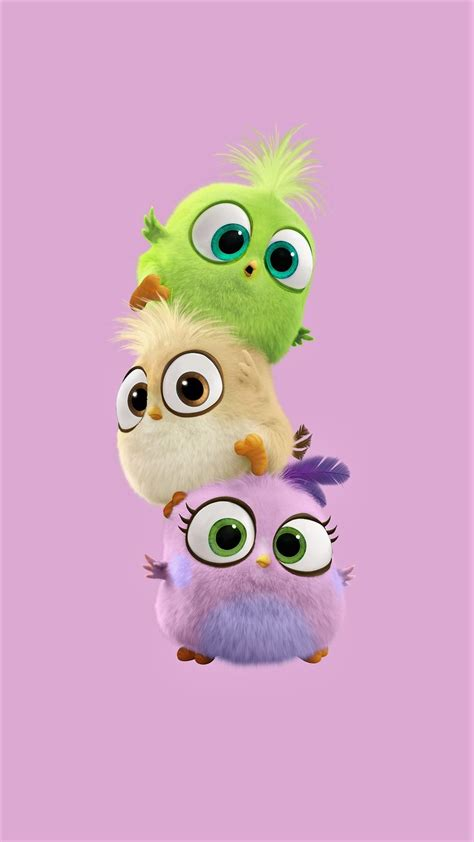 Baby Birds  Tap To See More Cute Cartoon Wallpapers