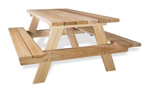 bench picnic table wooden picnic table kits by all things cedar patio tables