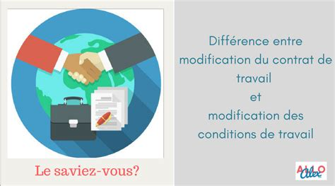 Modification Du Contrat De Travail by Difference Entre Modification Du Contrat De Travail Et