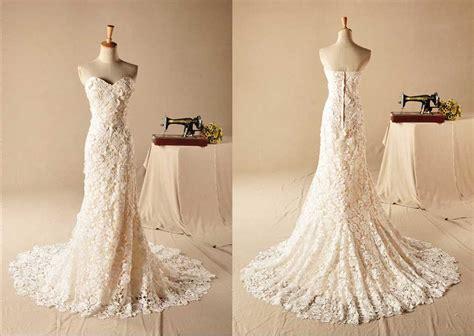 Strapless Sweetheart Lace Mermaid Wedding Dress On Luulla