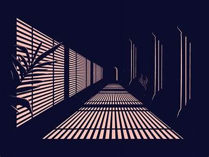 Corridor Animation Poster Dribbble