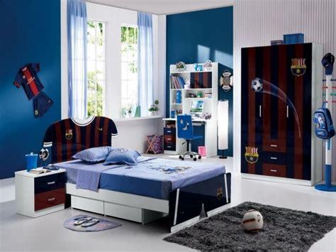 chambre gar輟n bleu idée chambre ado bleu