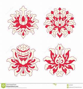 Flower Patterns Of Chinese Style Stock Vector ...