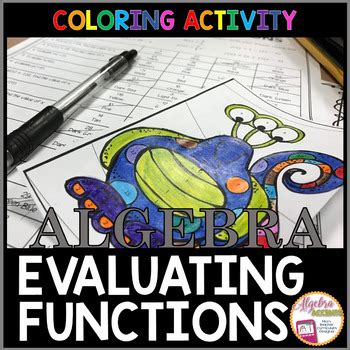 evaluating functions coloring activity  algebra accents