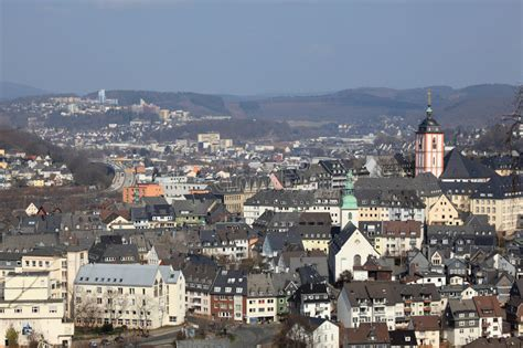 siege fn town siegen germany stock photo image of westphalia