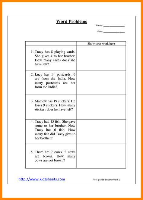 13 1st grade math word problems thin today