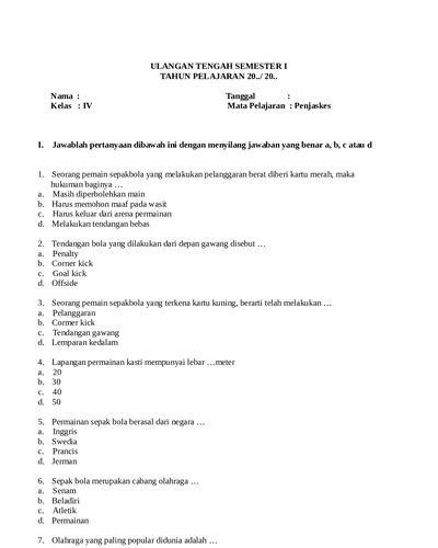 Persatuan dalam perbedaan, terdiri dari subtema 2 dan 3. Soal Penjaskes Kelas 5 Sd Semester 1 - Guru Paud