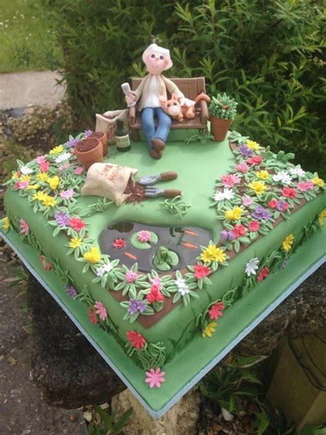 cake garden admiring her handy work cake heaven pinterest gardens cakes and kitten cake