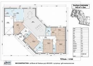 plan de maison en v gratuit 34055 sprintco With plan de maison plain pied en v