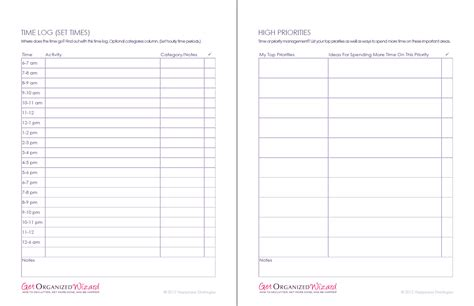 time management worksheets productivity planners to do