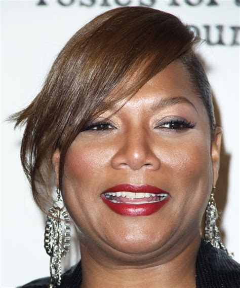 queen latifah formal long straight updo hairstyle