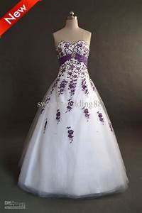 Wedding dress with purple accents jenni powell dream for Wedding dress with purple accents