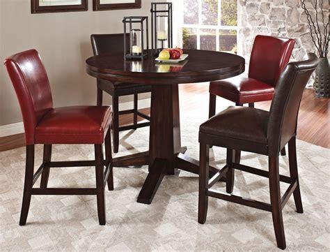 hartford pedestal counter height dining room set
