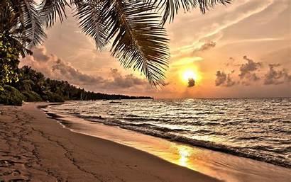Tropical Sunset Beach Wide Desktop Widescreen Resolutions