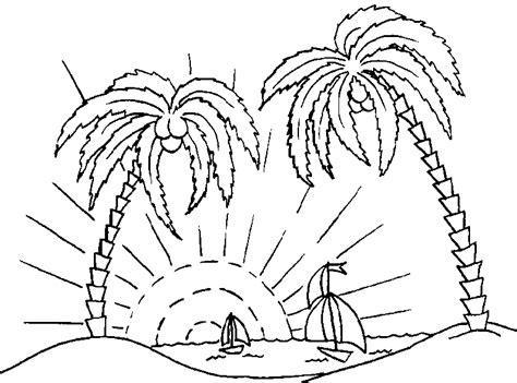 ausmalbilder malvorlagen von palmen kostenlos zum