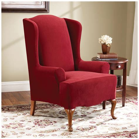 wing chair slipcovers sure fit stretch pearson wing chair slipcover 292826