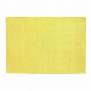 Tapis Jaune Maison Du Monde : tapis poils courts en laine jaune moutarde 160 x 230 cm ~ Zukunftsfamilie.com Idées de Décoration