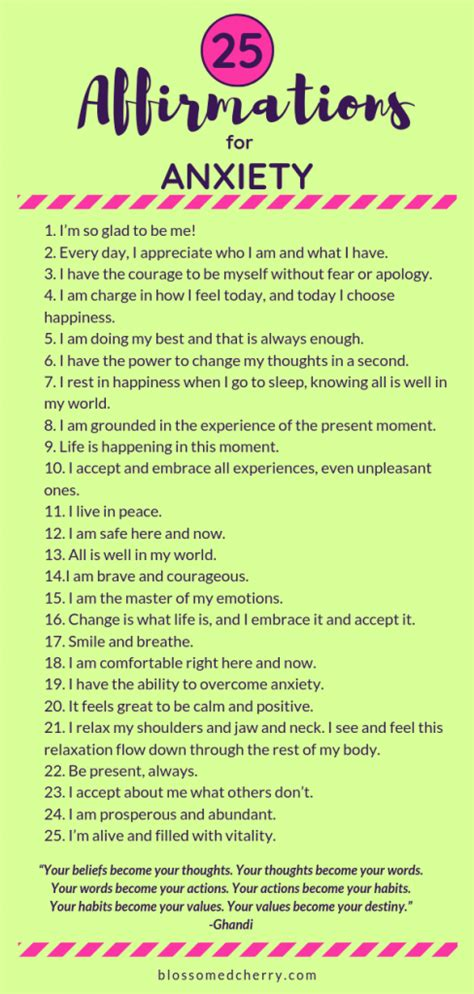 video powerful affirmations  anxiety  transform