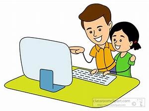 Computers Clipart- tutor-teaching-student-to-use ...