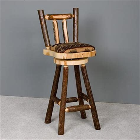 caldwell brook upholstered hickory bar stool