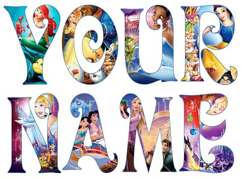 disney princess letters disney princess letter name stickers wall deco decal 3 21377