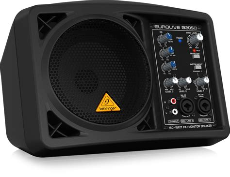 behringer eurolive b205d active 150 watt pa monitor speaker system