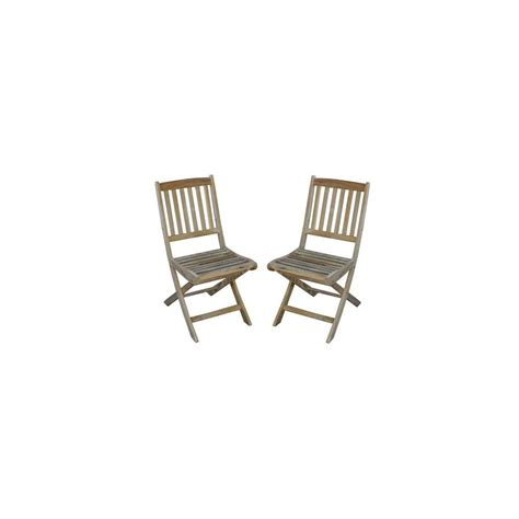 chaise en teck pliante chaise pliante vittel en teck fsc lot de 2 plantes et