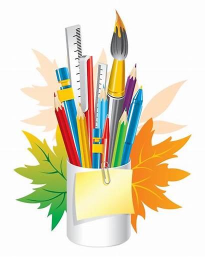 Stationary Stationery Clipart Transparent Crayon Crafts Office