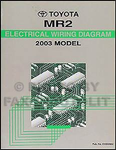 New 2003 Toyota Mr2 Wiring Diagram Manual Mr 2 Electrical Schematics Shop Repair