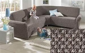 Hussen Für Sofa : 3 2 sofahusse ecksofa mit rmeln braun grau creme stretch husse waffel neu ebay ~ Orissabook.com Haus und Dekorationen