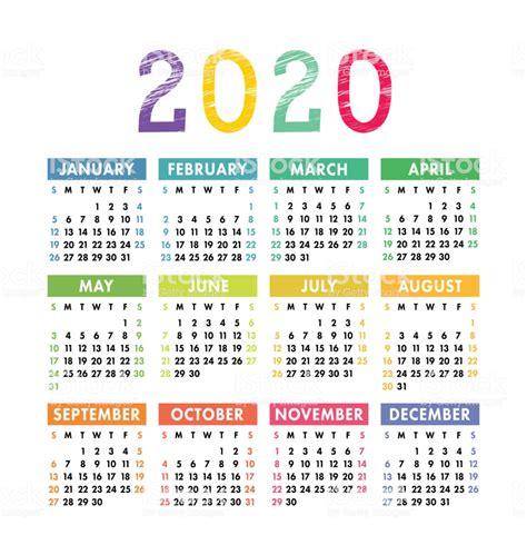 ilustracion de calendario ano plantilla de calendario