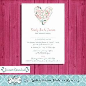 digital diy editable wedding invitation printable With send digital wedding invitations