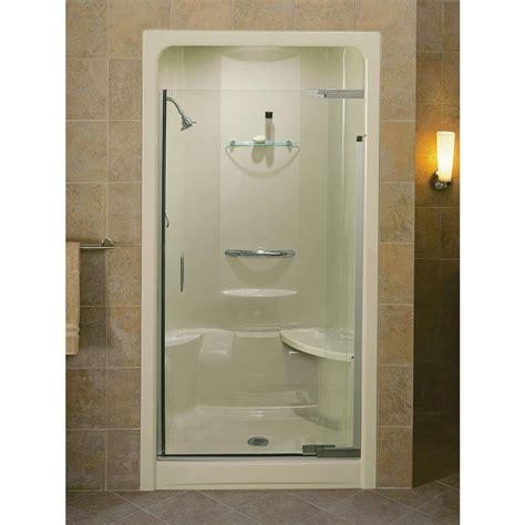 kohler purist 42 in x 72 in heavy semi frameless pivot - Kohler Glass Shower Door