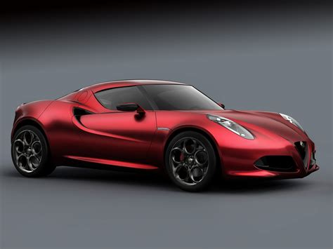 Alfa Romeo Car : 2011 Alfa Romeo 4c Concept Car Desktop Wallpapers