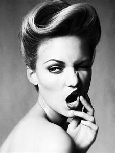 Coiffeuse Noir Et Blanche : 1001 id es pour une coiffure vintage impressionnante ~ Teatrodelosmanantiales.com Idées de Décoration
