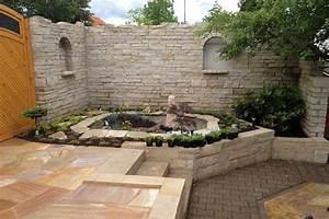 Steine Für Terrasse : garten terrassen anlegen mit au enwand steine und kleine ~ Michelbontemps.com Haus und Dekorationen