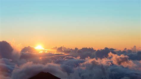 Download Wallpaper 1920x1080 Sunrise Sun Clouds Sky