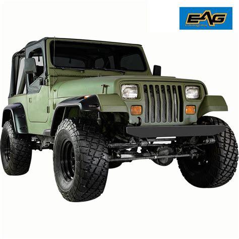 jeep wrangler yj frontrear fender flares  wide