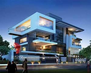 3d Exterior Design Rendering Of Modern House