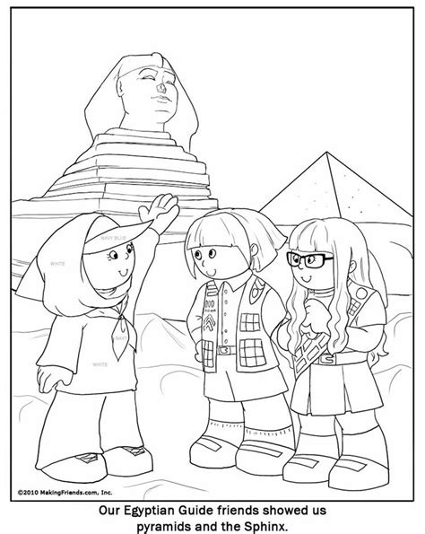 egyptian girl guide coloring page thinking day