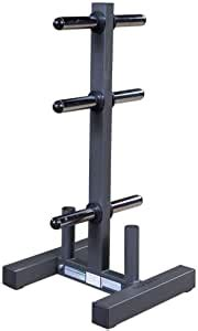 amazoncom body solid wt olympic weight plate tree  bar holder black plate trees