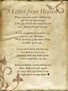 Letter From Heaven Poem