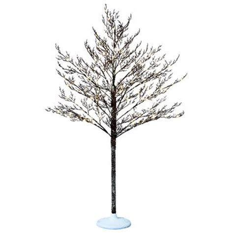 holiday living 5 ft indoor outdoor pre lit artificial winter tree lowe s canada