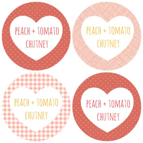 Chutney Label Templates by Tomato Chutney Includes Free Printable Labels