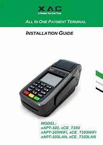 Xac Automation T103wifit Terminal User Manual