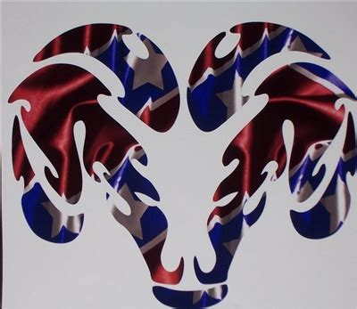 rebel flag ram head decal