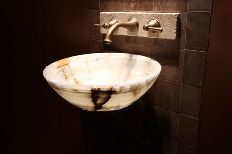 Onyx Vessel Bowl Sink-modern-bathroom Sinks