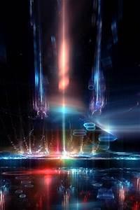 Space Ship Interior Neon Lights HD Wallpaper 8778