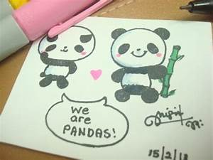 How to draw a cute panda :) - YouTube