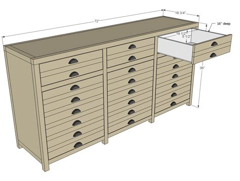ana white printers triple console cabinet diy projects